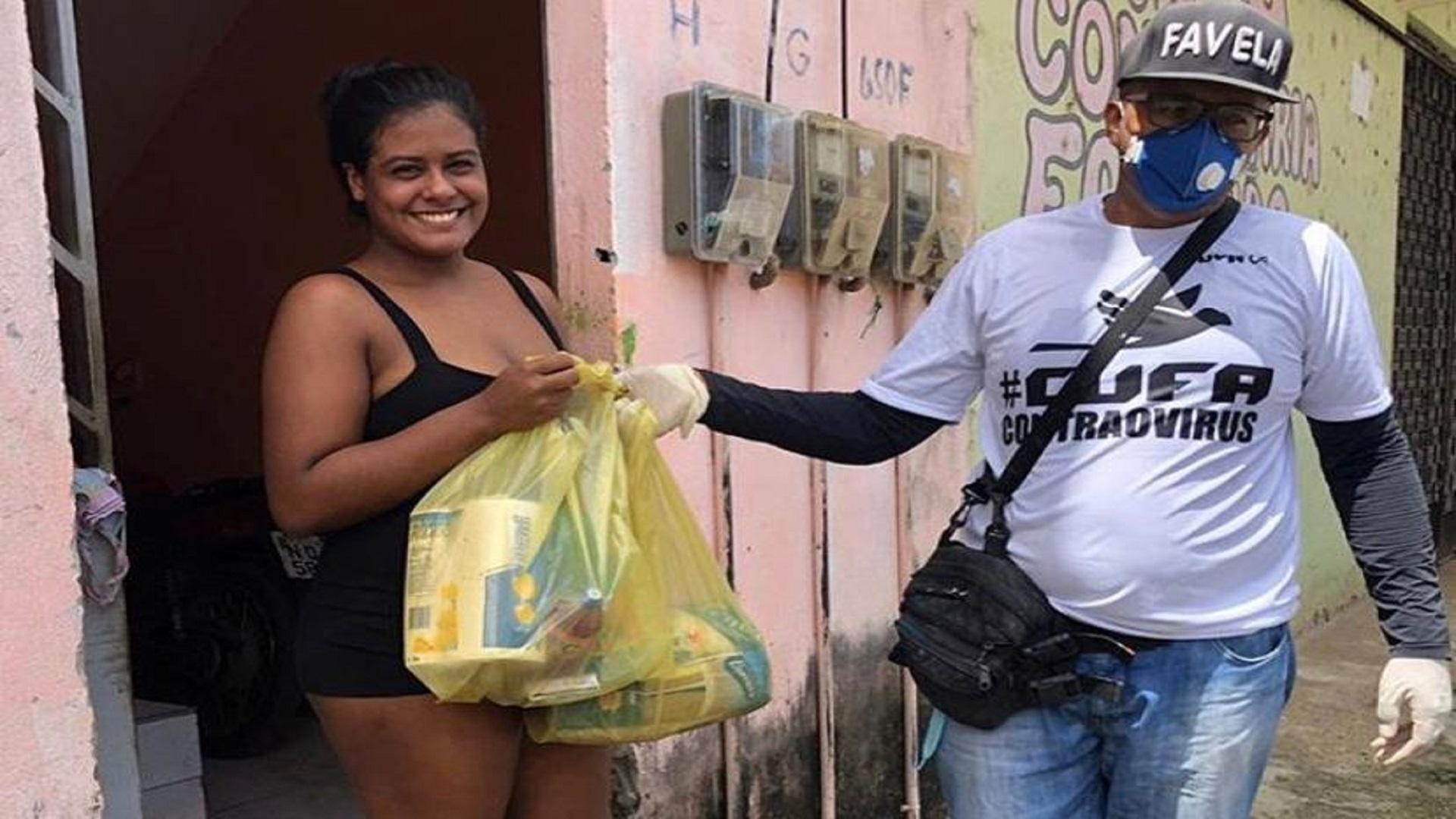 Cufa monta rede de solidariedade e distribui mais de 28 mil cestas básicas