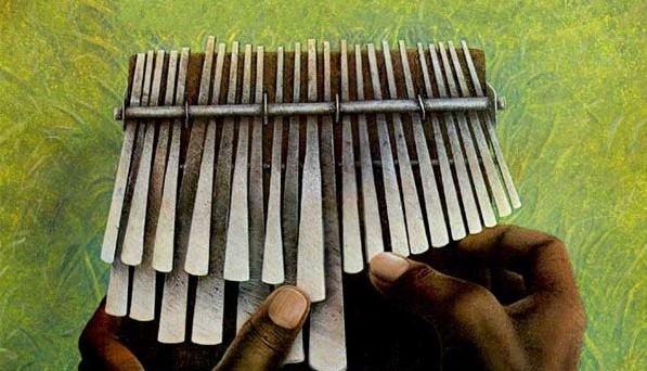 O Mbira é um instrumento tradicional do povo Shona do Zimbábue, país no Sul da África. Foto: Divulgação.