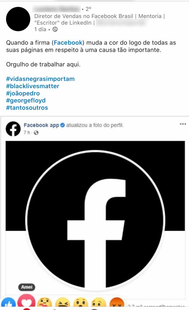 facebook se posiciona black lives matter marcas antirracistas