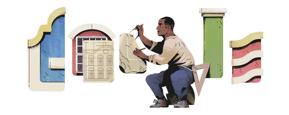 Tebas foi um negro escravizado que após ter se libertado da escravidão aos 58 anos, tornou-se arquiteto e artesão. Foto: Divulgação.