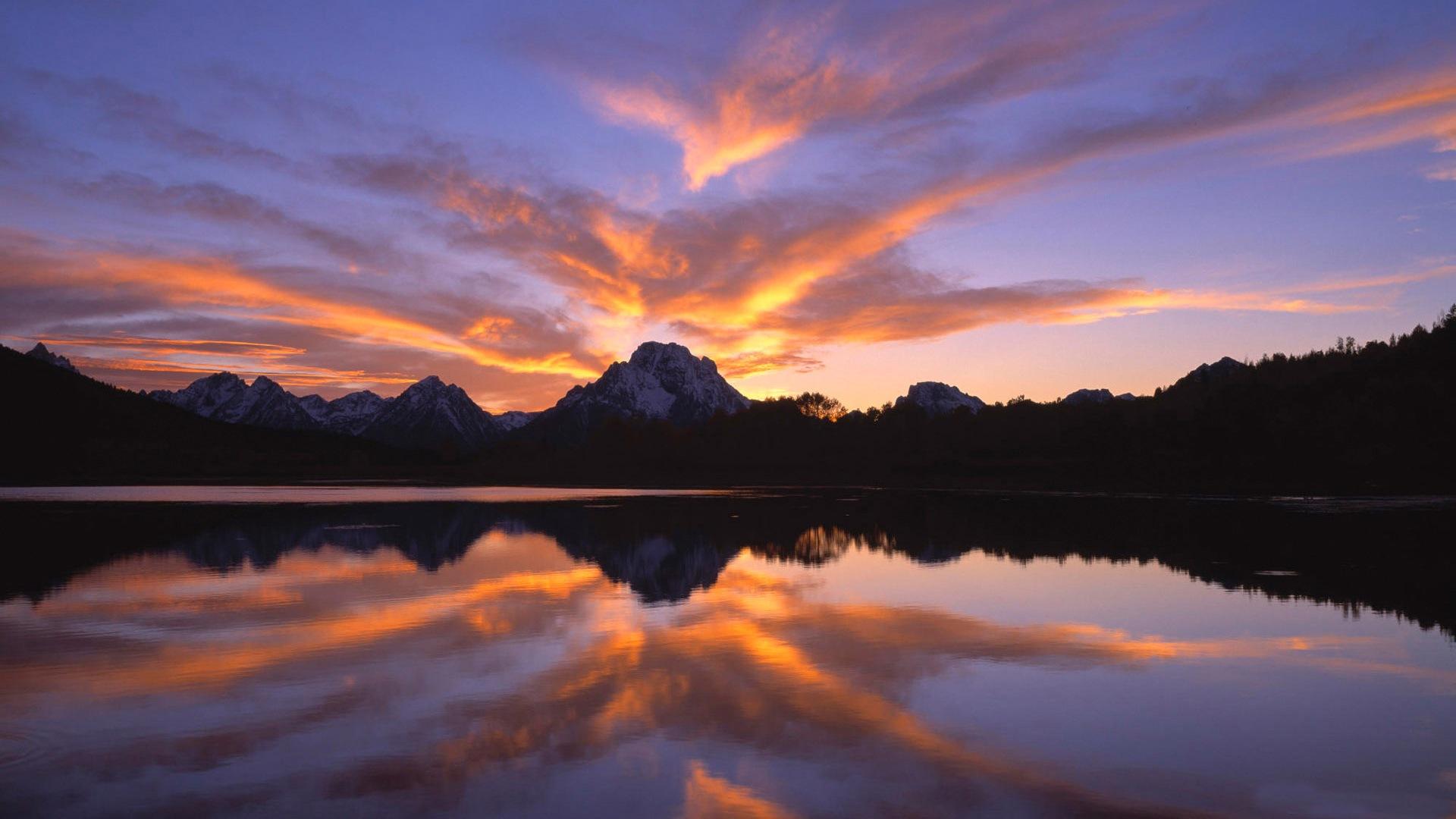 Sunset mountains