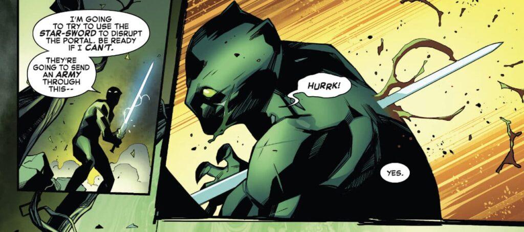 Espadachim mata o Pantera Negra na saga Empyre