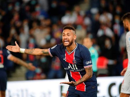 neymar foi expulso na estreia do psg contra o olympique de marselha pelo campeonato frances 202021