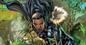 Shuri como Pantera Negra nos quadrinhos