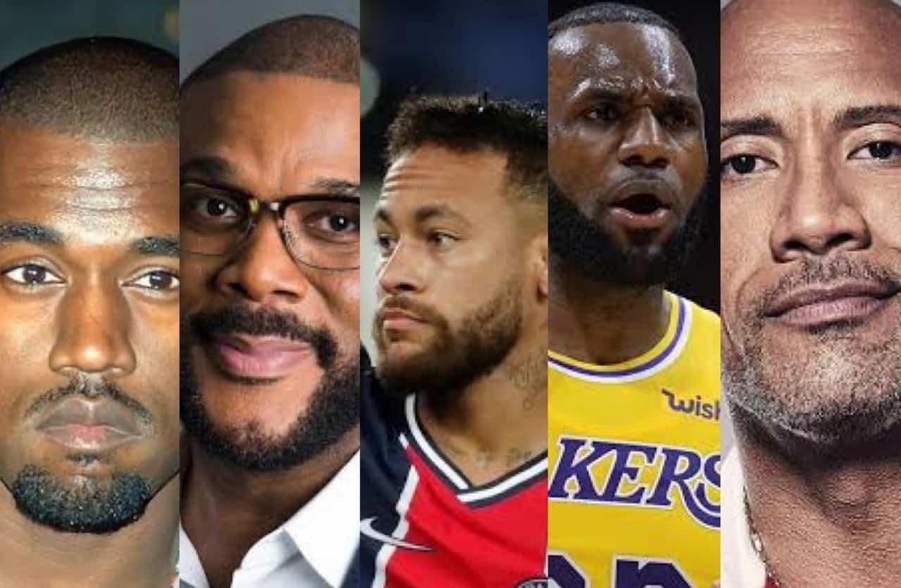 29 das 100 celebridades mais bem pagas do mundo são negras; quase todos homens