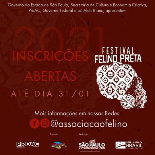 Festival Felino Preta abre inscrições até dia 31