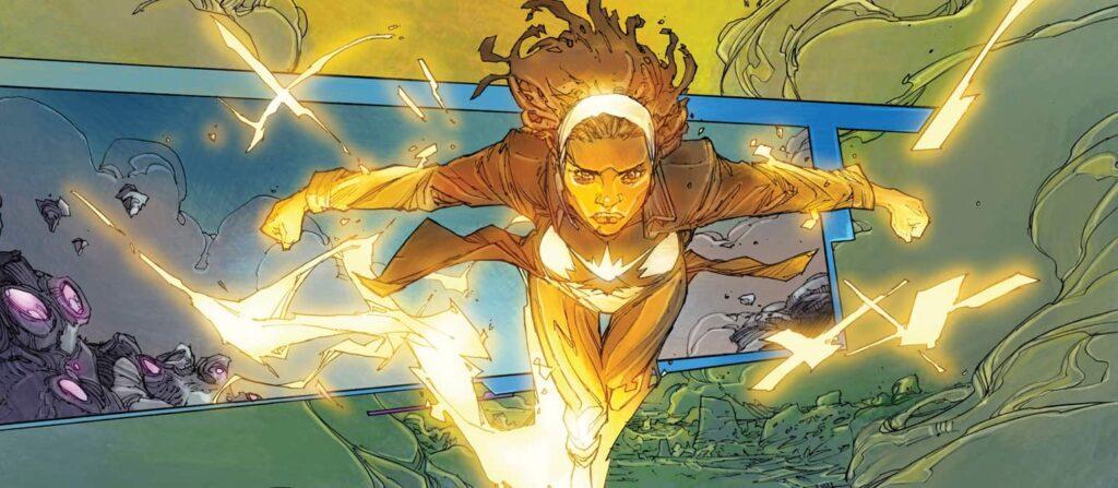 Monica Rambeau usando os poderes