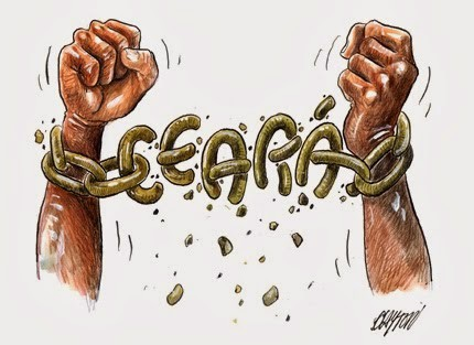 Charge do Clayton 130 anos da abolicao da escravatura no Ceara