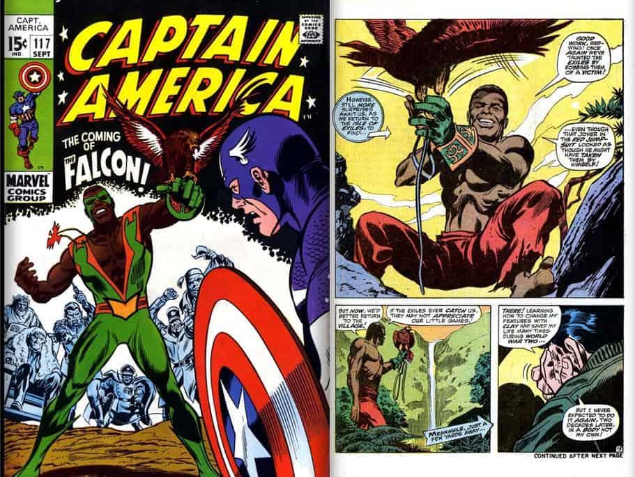 Primeira aparição nas histórias em quadrinhos do Falcão, em 1969.