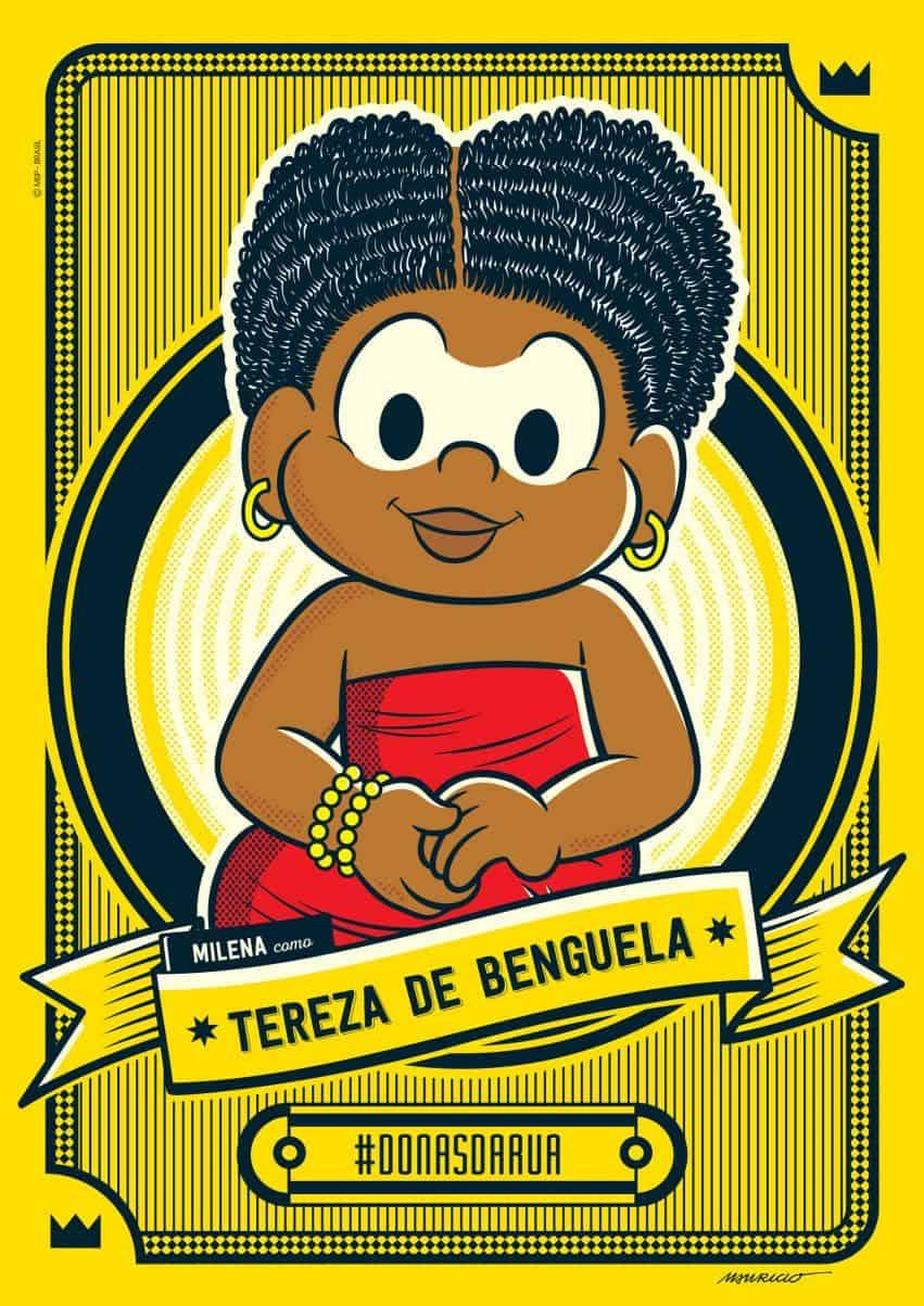 Turma da Mônica homenageia Tereza de Benguela